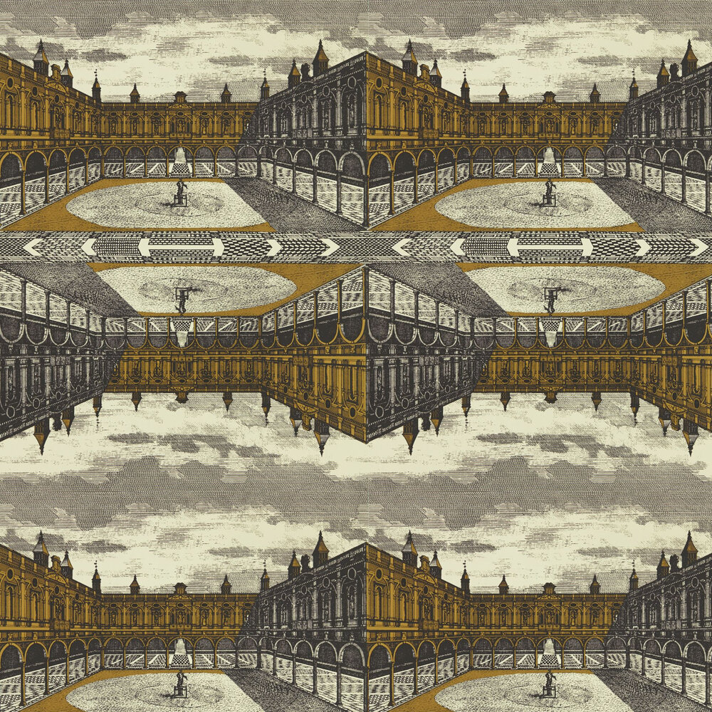 Royal Exchange Wallpaper - Paris Grey / Gold - by Zoffany