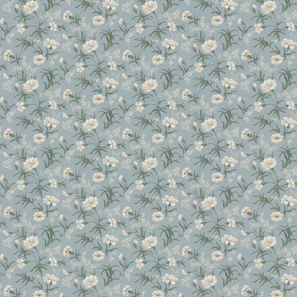 Emilie Wallpaper - Sky Blue - by Sandberg