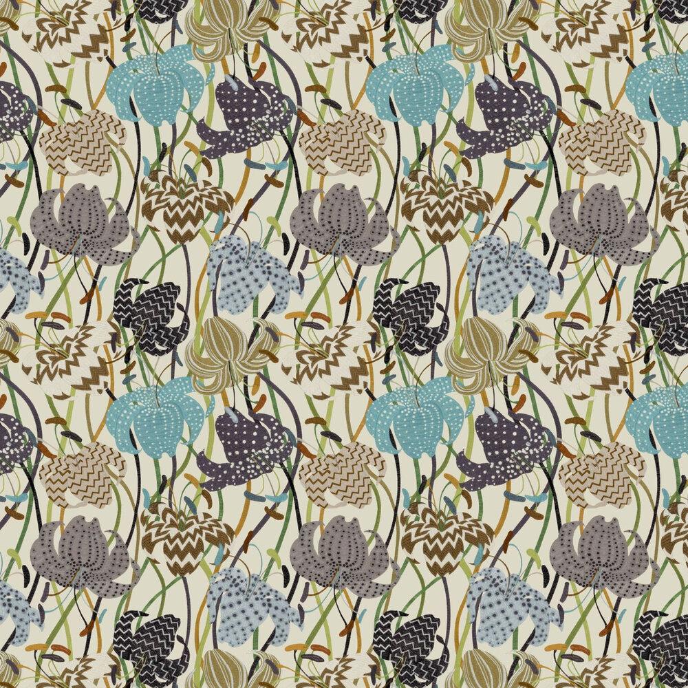 Lilium Wallpaper - Brown - by Missoni Home