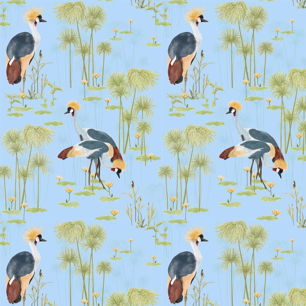 Cranes Wallpaper - Lake - by Petronella Hall