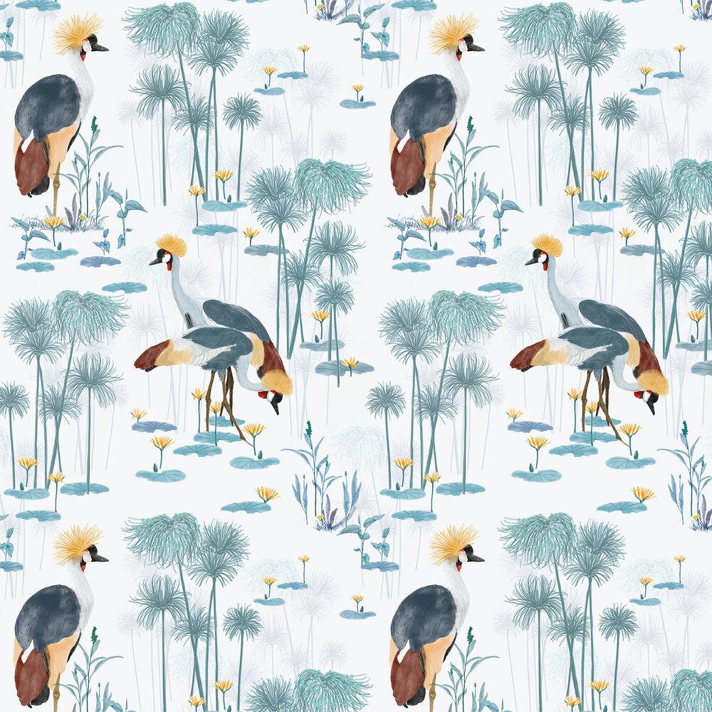 Cranes Wallpaper - Pool - by Petronella Hall