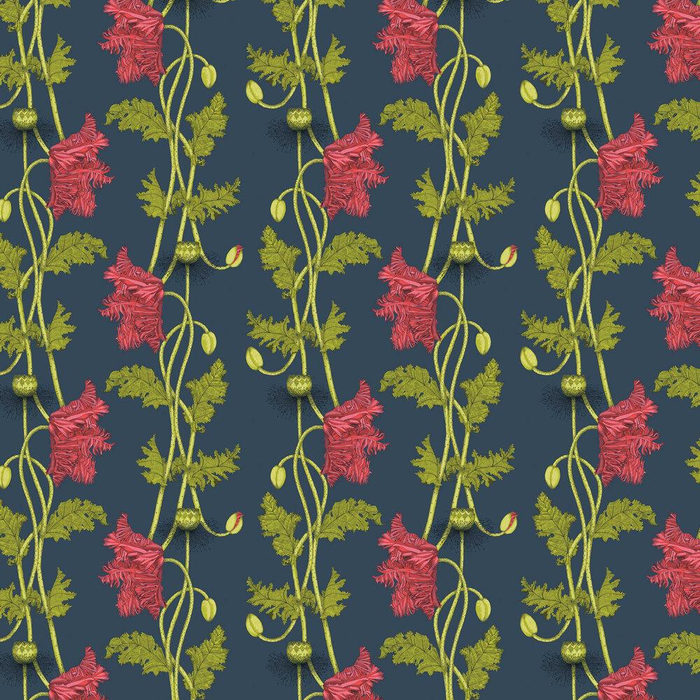 Poppy Wallpaper - Cherry - by Petronella Hall