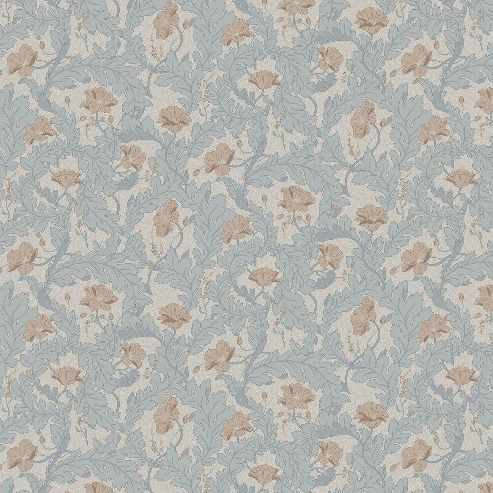 Charlotta Wallpaper - Sky Blue - by Sandberg