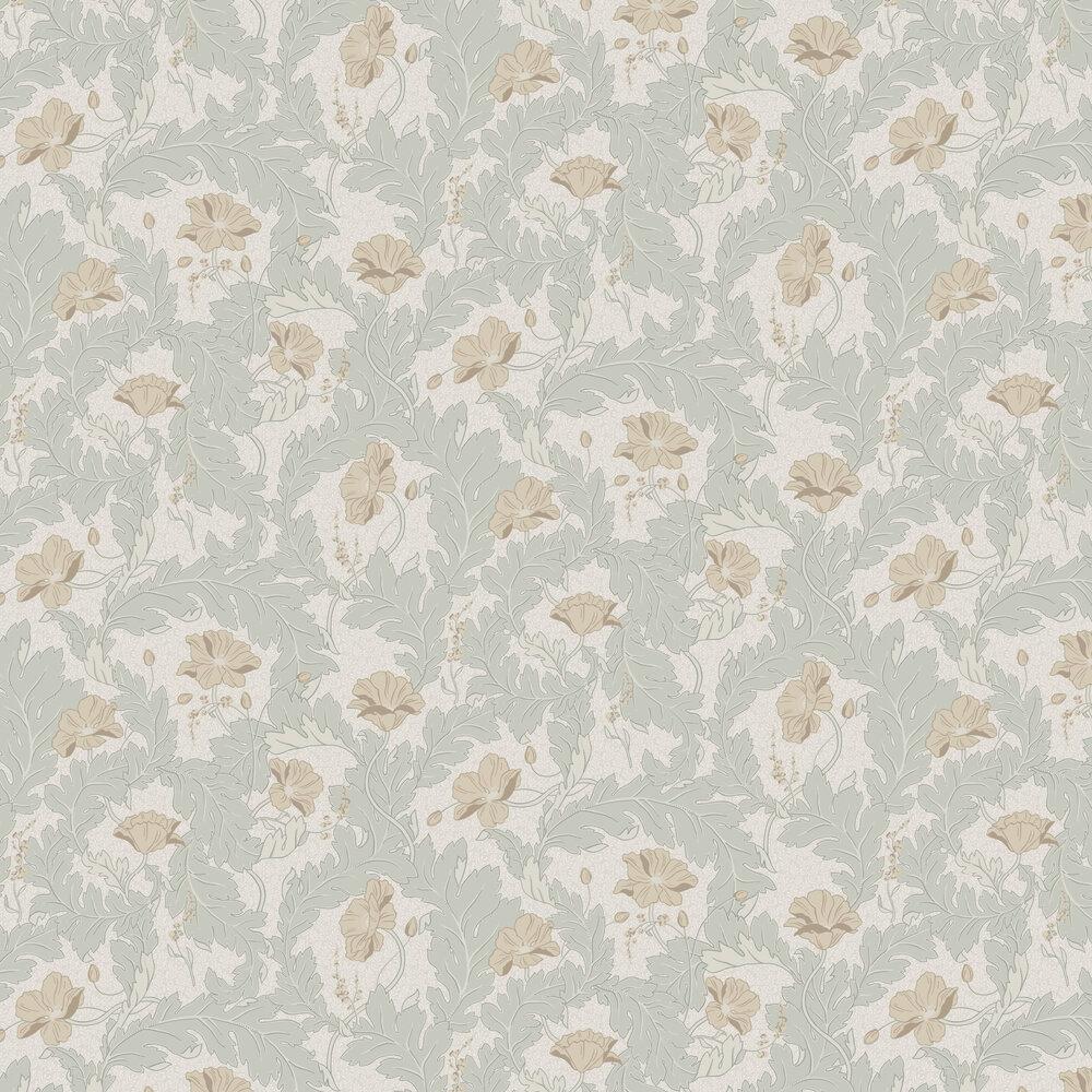 Charlotta Wallpaper - Spring Green - by Sandberg