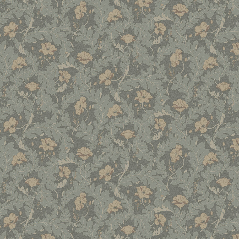 Charlotta Wallpaper - Forest Green - by Sandberg