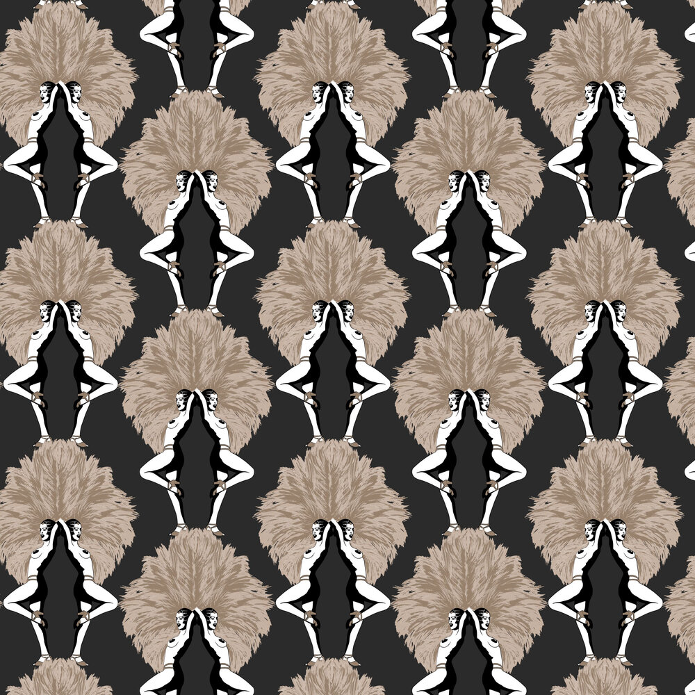 Showgirls Wallpaper - Black - by Graduate Collection