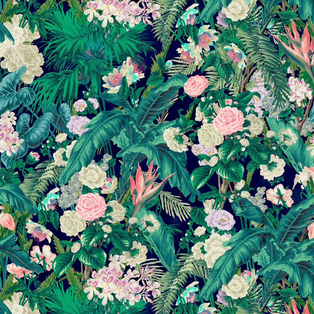 Kahanu Wallpaper - Emerald - by Linwood
