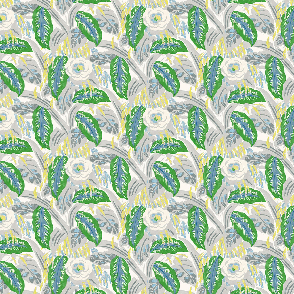Les Fauves Wallpaper - Emerald - by Linwood