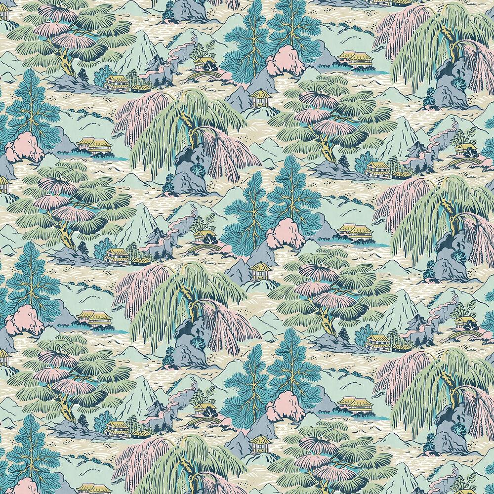 Yanagi  Wallpaper - Bright Pastel - by Linwood