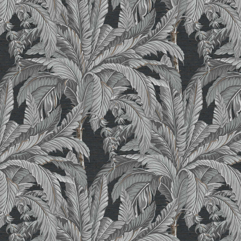 Daintree Palm Wallpaper - Sterling - by Graham & Brown