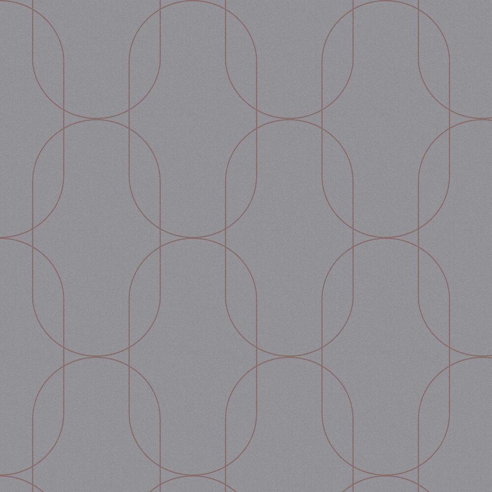 Palais Wallpaper - Grey / Rose Gold - by Graham & Brown