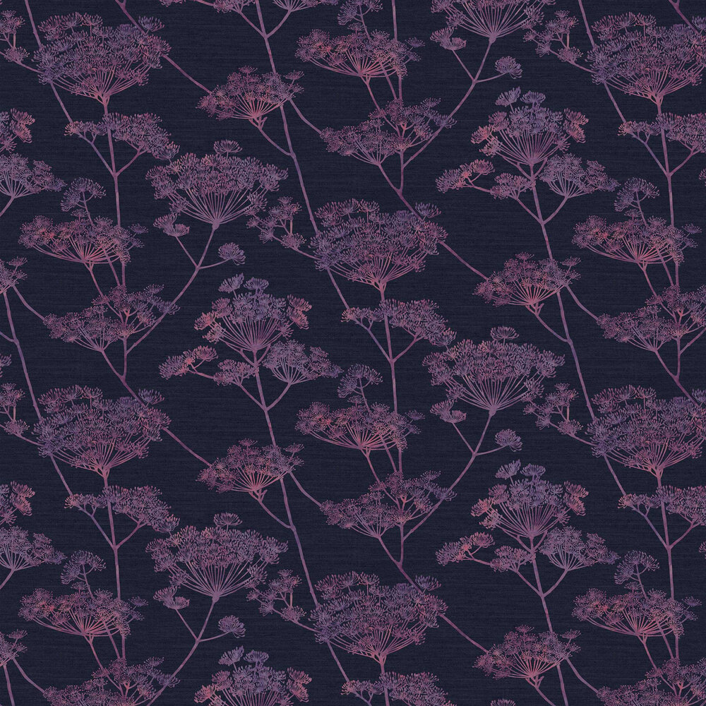 Hortus Wallpaper - Mulberry - by Graham & Brown