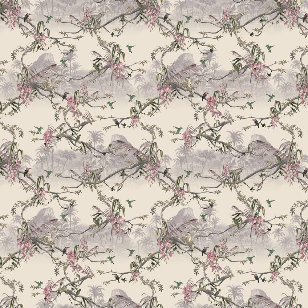 Hibiscus Wallpaper - Blush - by Ted Baker