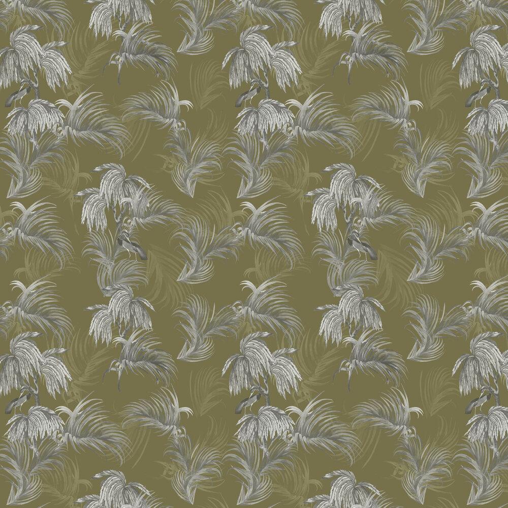 Horizon Wallpaper - Ochre - by Ted Baker