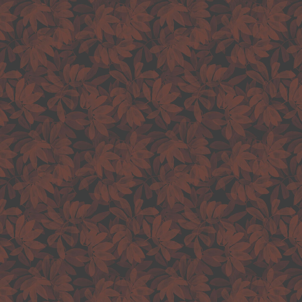Houdini Wallpaper - Burgundy - by Ted Baker