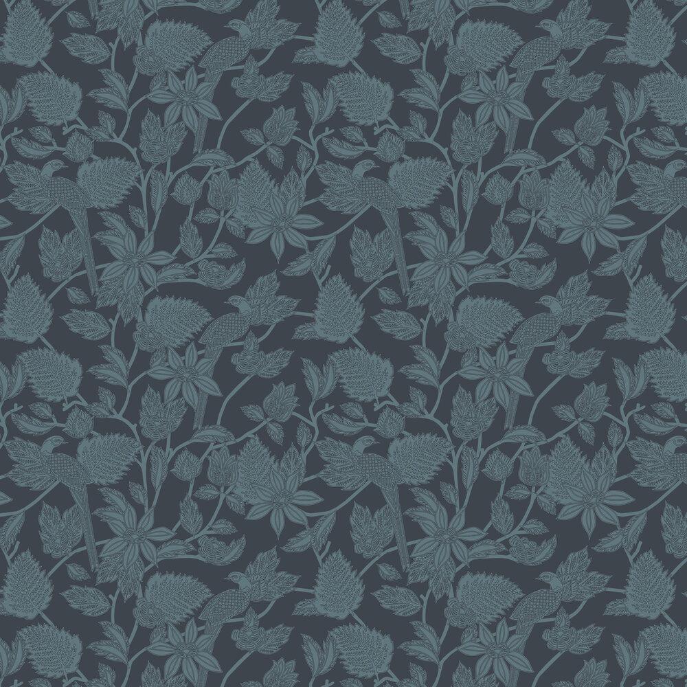 Benga  Wallpaper - Navy - by Ted Baker