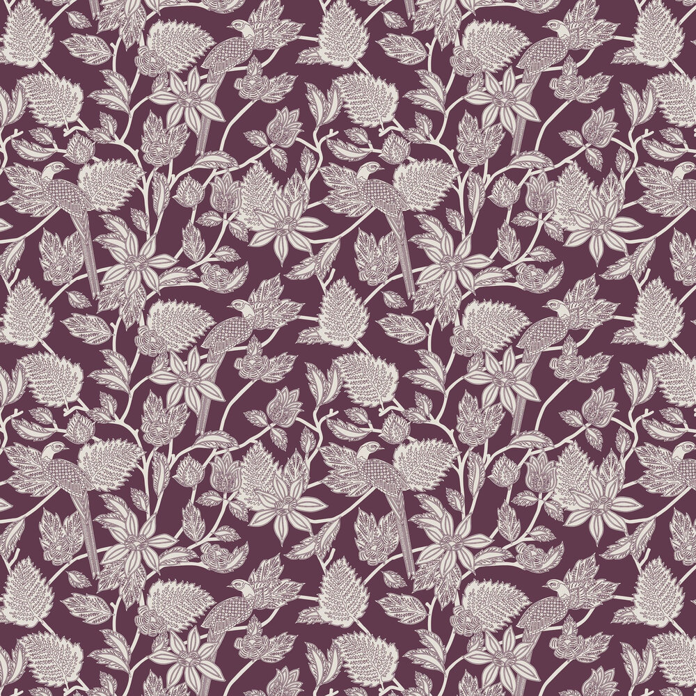 Benga  Wallpaper - Burgundy - by Ted Baker