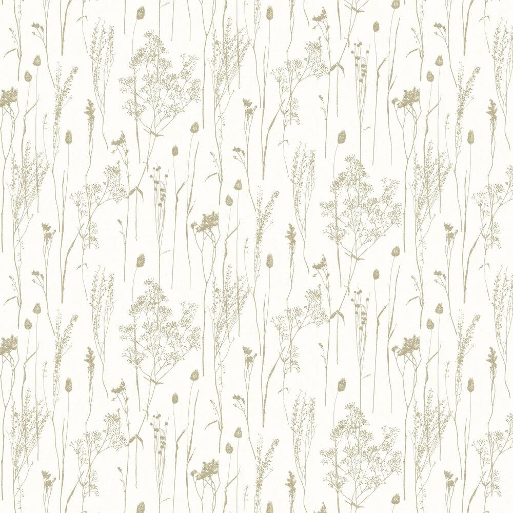 Dried Florals Wallpaper - White - by Eijffinger