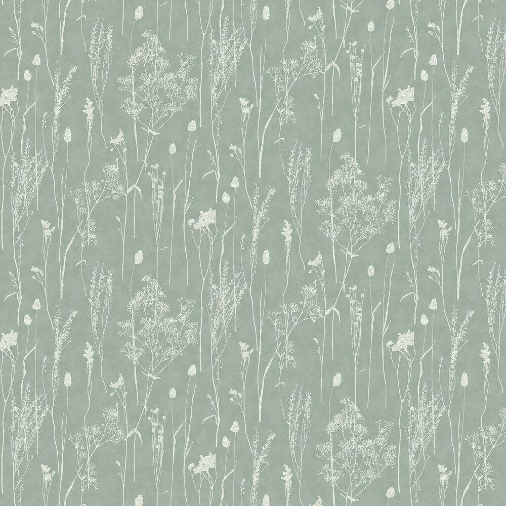Dried Florals Wallpaper - Mint - by Eijffinger