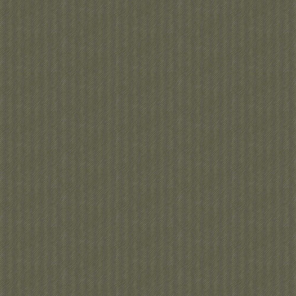 Natural Stripe Wallpaper - Dark Green - by Eijffinger