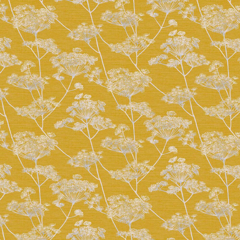 Hortus Wallpaper - Mustard - by Graham & Brown