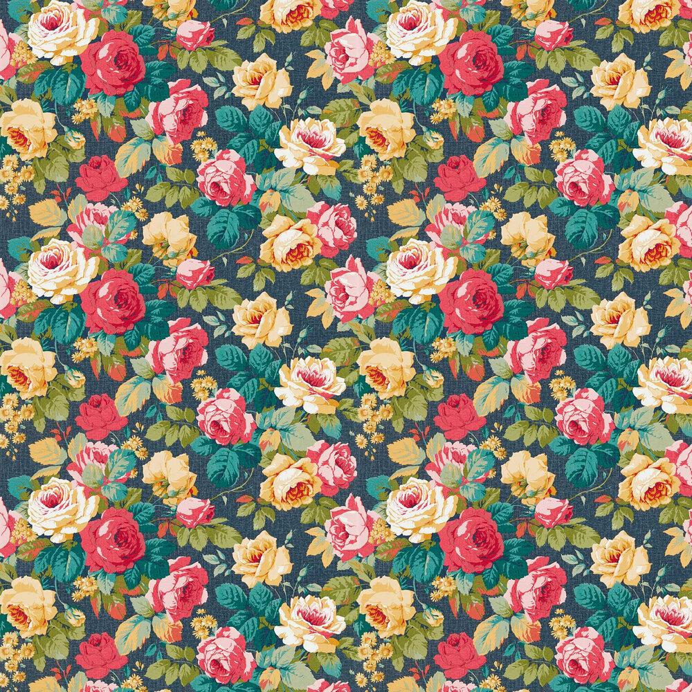 Chelsea Wallpaper - Cherry / Indigo - by Sanderson
