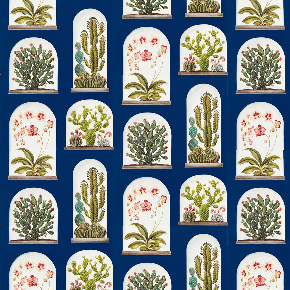 Terrariums Wallpaper - French Blue - by Sanderson