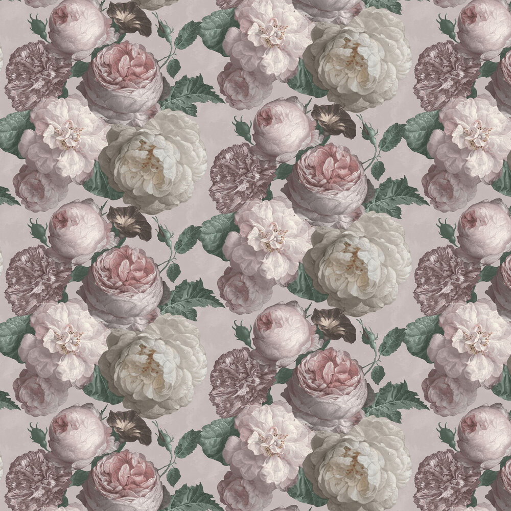 Highgrove Floral  Wallpaper - Blush Pink - by Arthouse