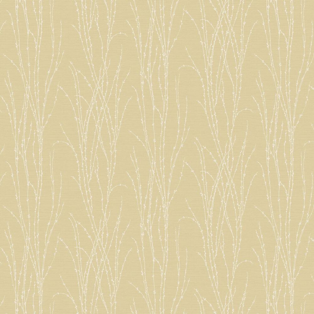 Botanical Fern Wallpaper - Yellow - by SK Filson