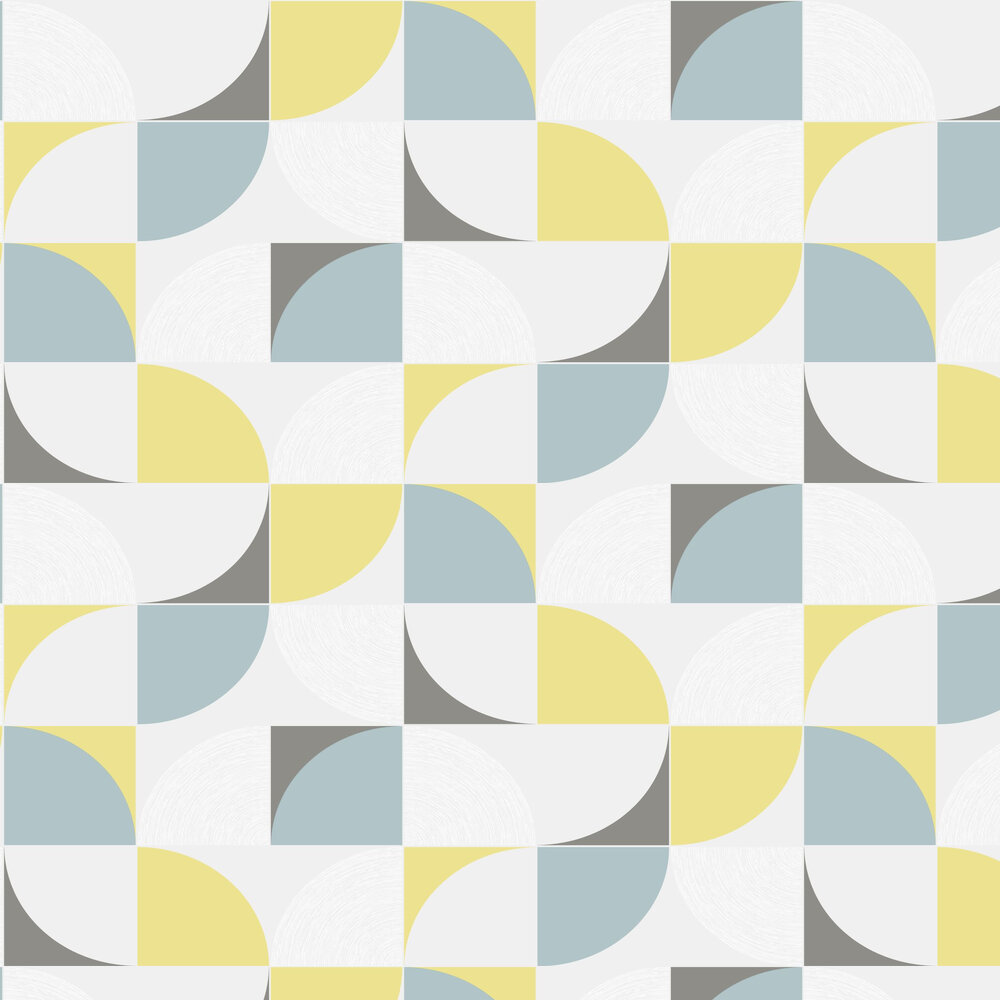 Quadrant Wallpaper - Yellow / Blue - by SK Filson