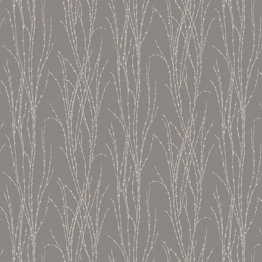 Botanical Fern Wallpaper - Slate - by SK Filson