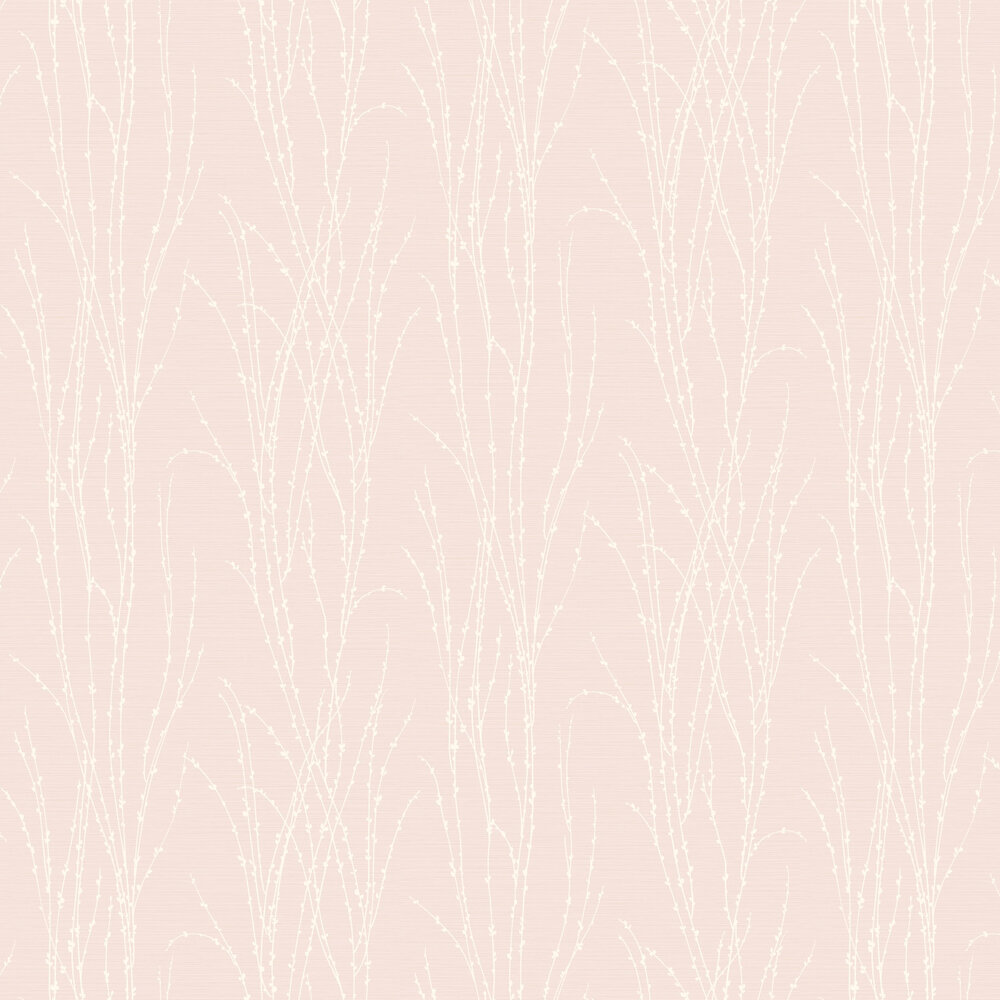 Botanical Fern Wallpaper - Pink - by SK Filson