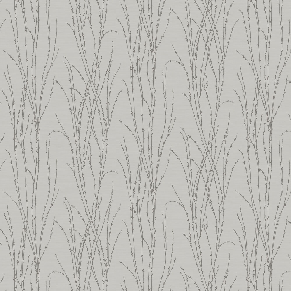 Botanical Fern Beads Wallpaper - Grey - by SK Filson