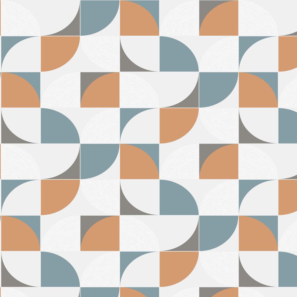 Quadrant Wallpaper - Orange / Blue - by SK Filson