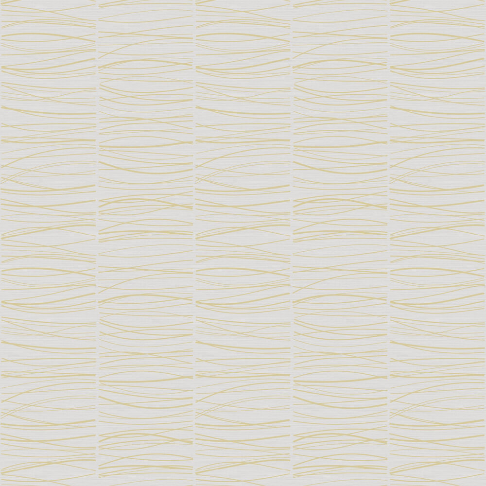 Wavy Lines Wallpaper - Taupe - by SK Filson