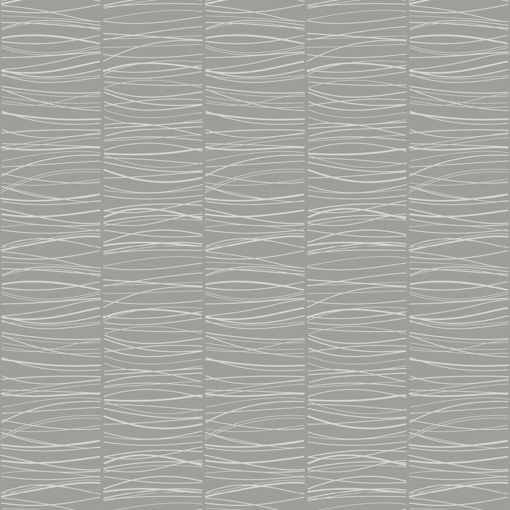 Wavy Lines Wallpaper - Slate - by SK Filson