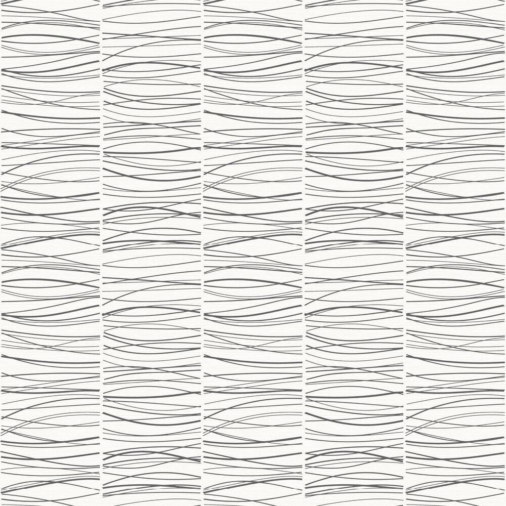 Wavy Lines Wallpaper - Black / White - by SK Filson