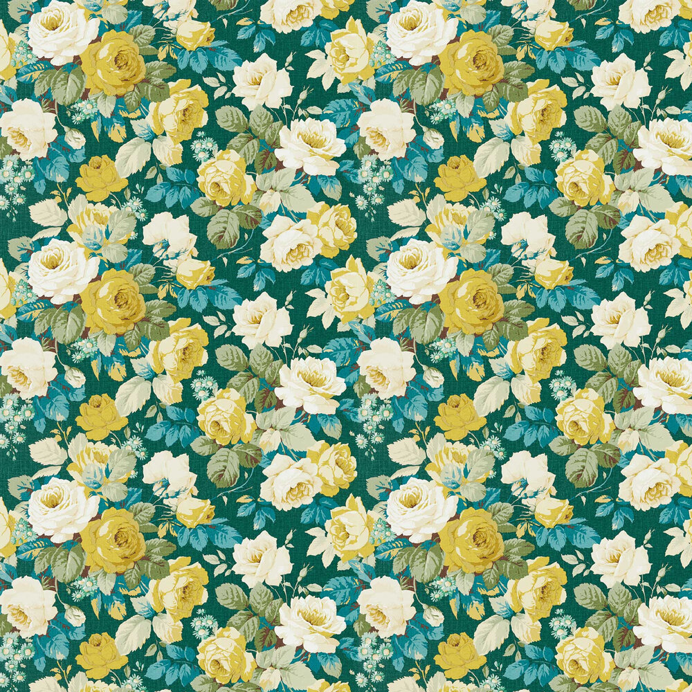 Chelsea Wallpaper - Forest / Woodland Yellow - by Sanderson