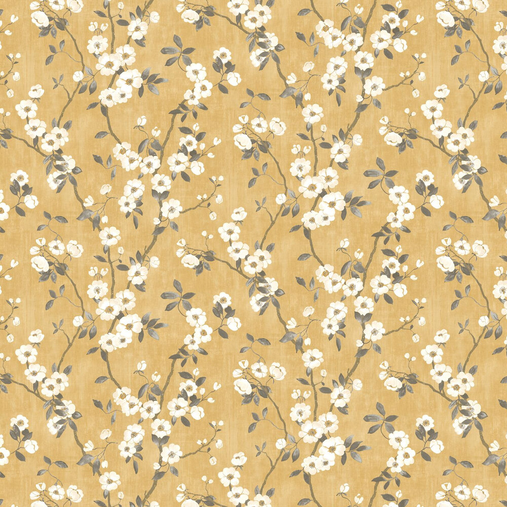 Spring Flower Wallpaper - Yellow - by Casadeco