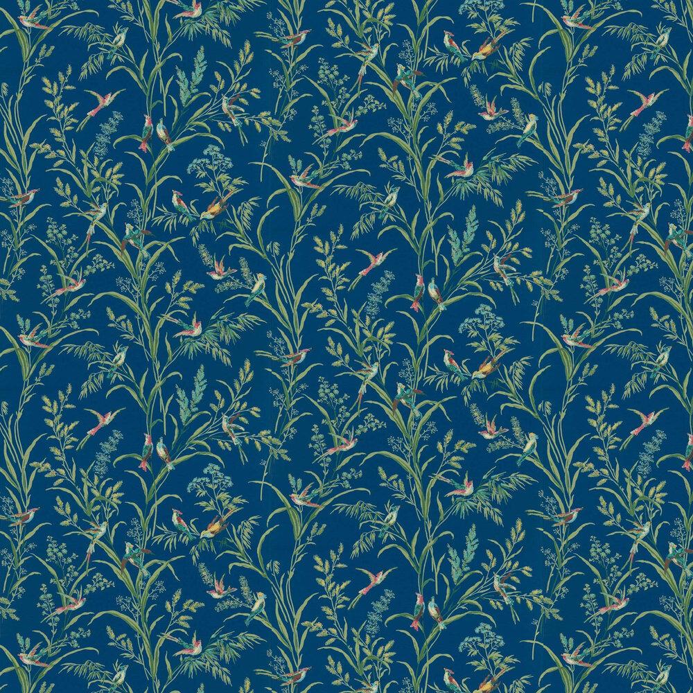 Tuileries Wallpaper - French Blue / Rhodera - by Sanderson