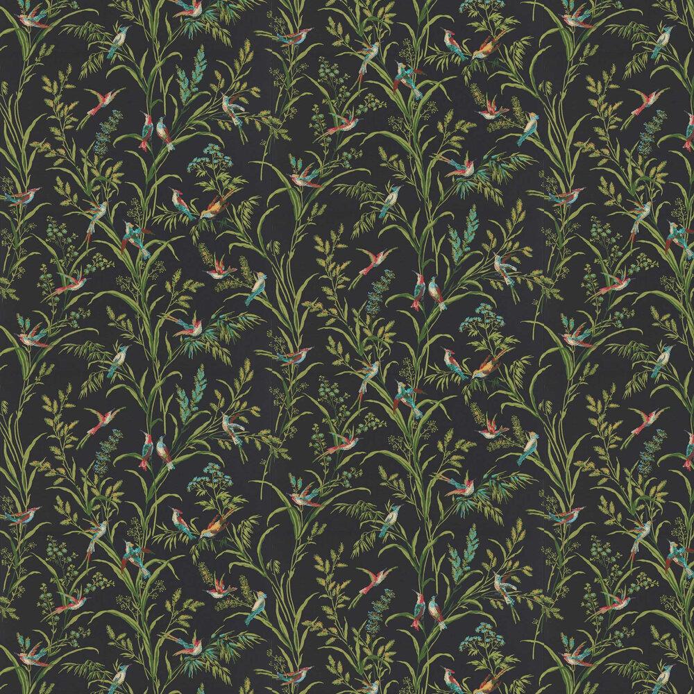 Tuileries Wallpaper - Burn Black Multi - by Sanderson