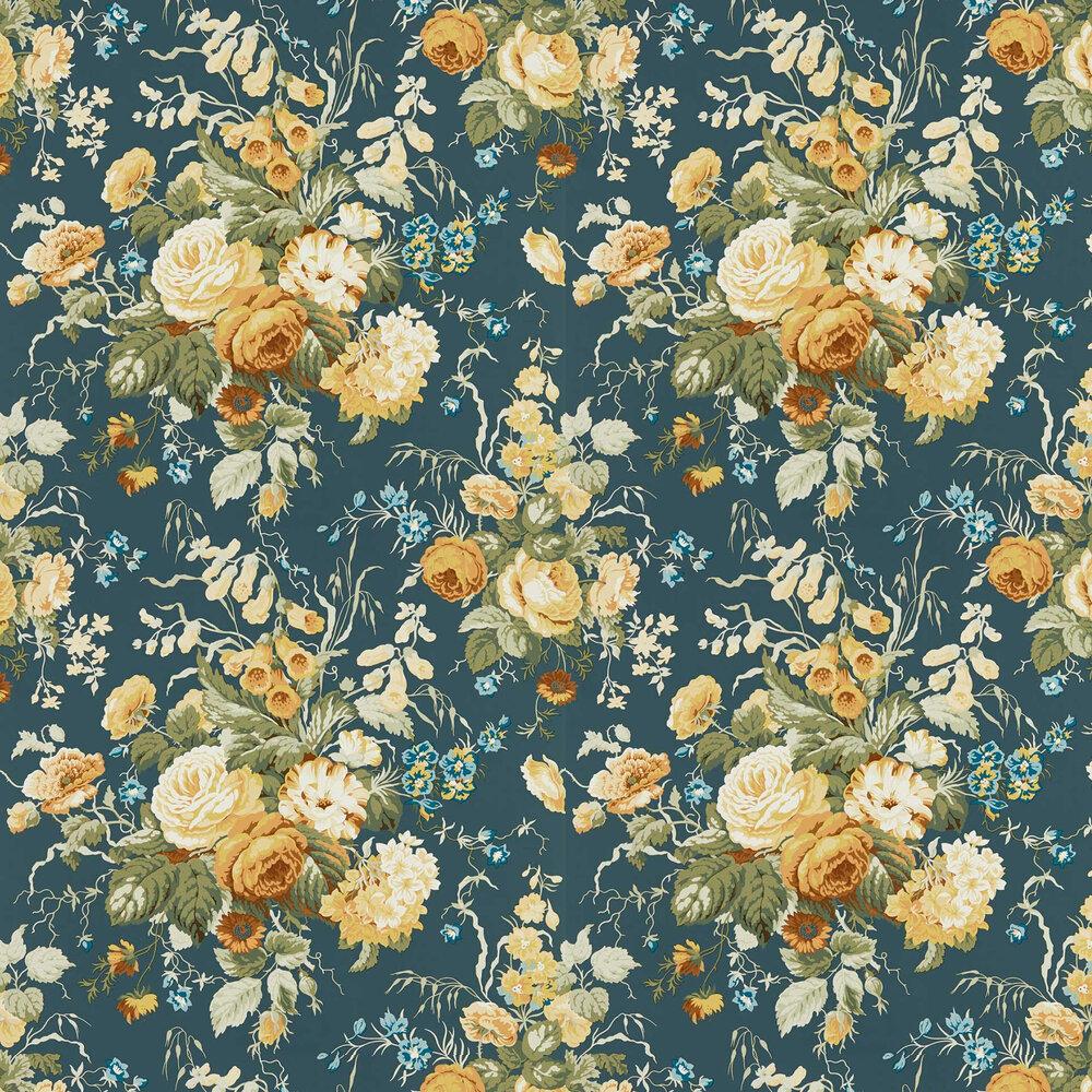 Stapleton Park Wallpaper - Midnight / Gold  - by Sanderson