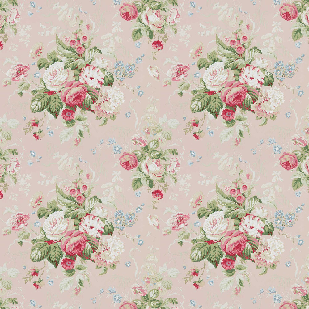 Stapleton Park Wallpaper - Light Rose - by Sanderson