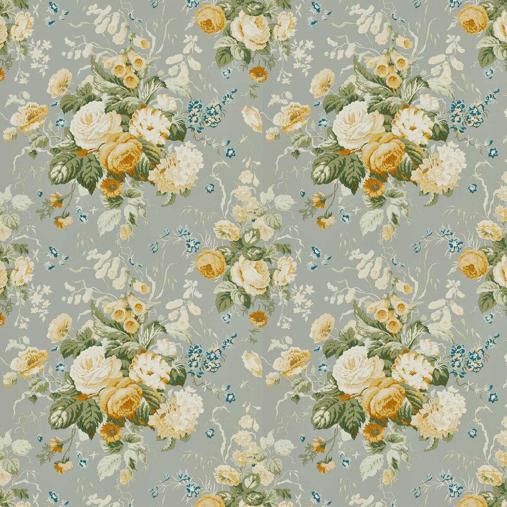 Stapleton Park Wallpaper - Gull Grey / Gold - by Sanderson