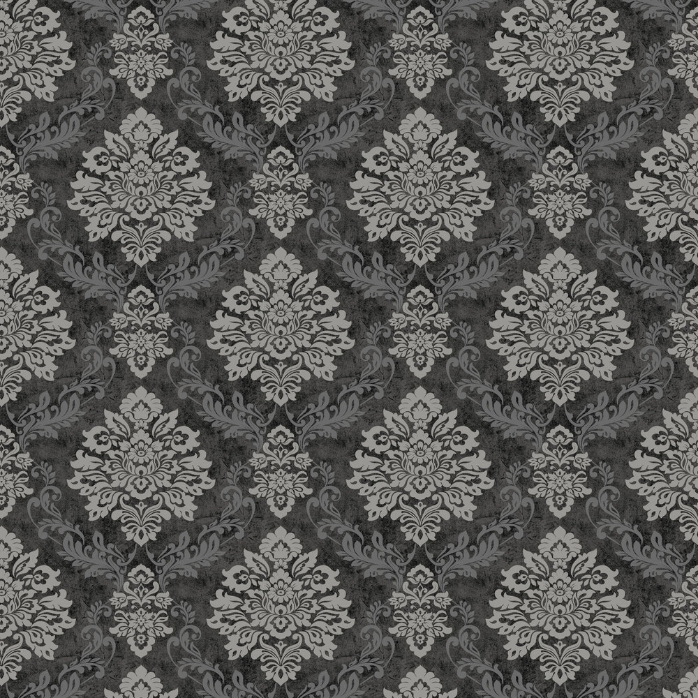 Palazzo Damask  Wallpaper - Charcoal - by Arthouse