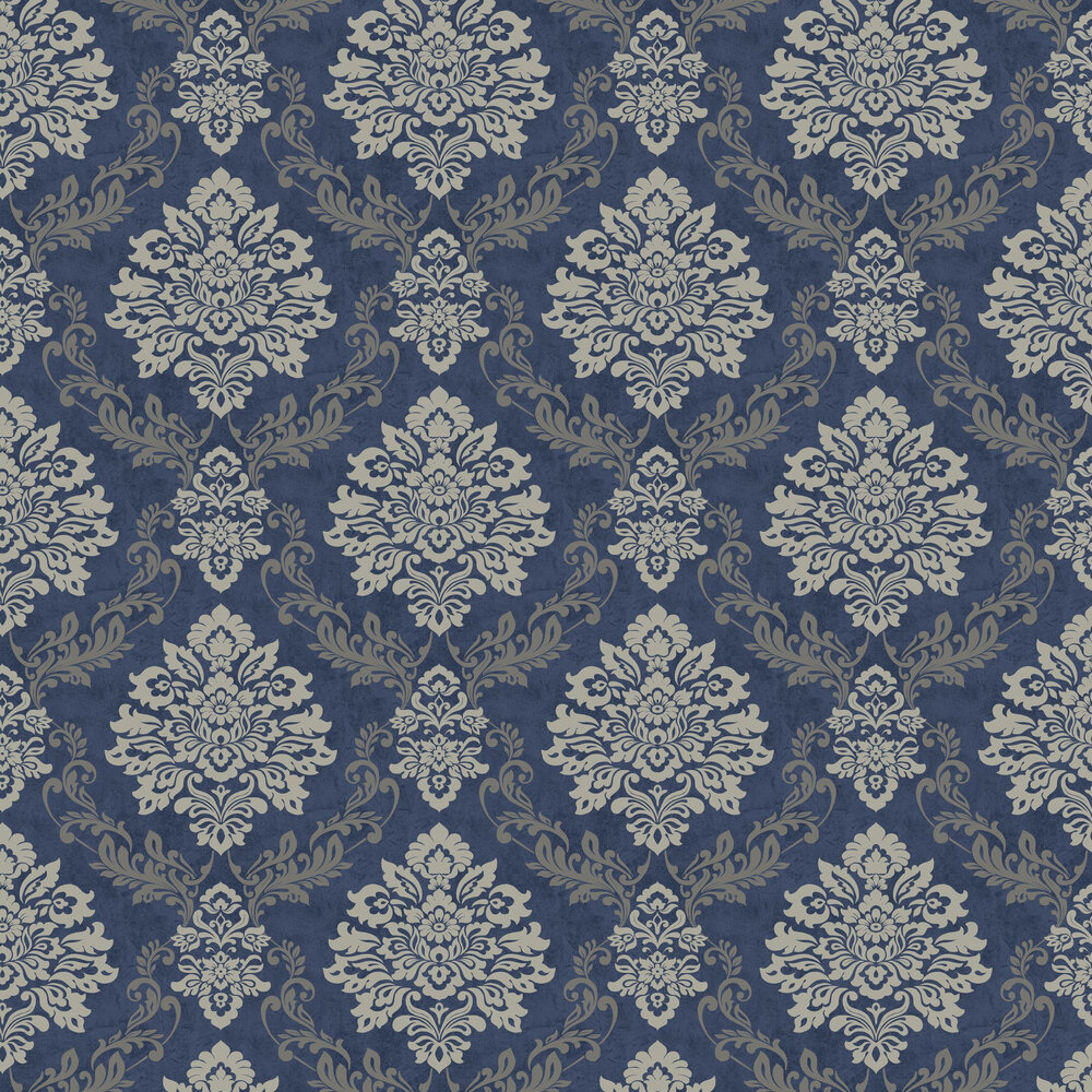 Palazzo Damask  Wallpaper - Navy - by Arthouse