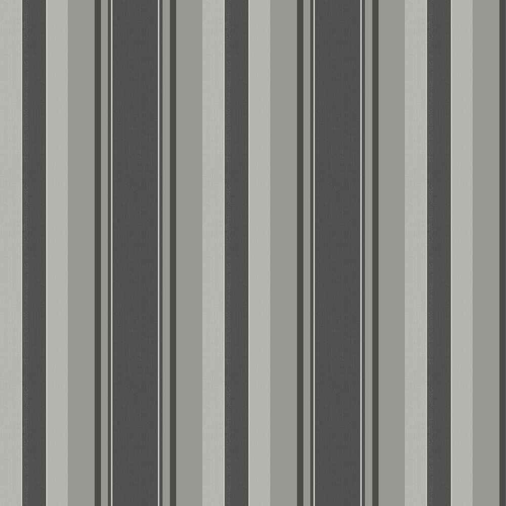 Palazzo Stripe  Wallpaper - Charcoal - by Arthouse