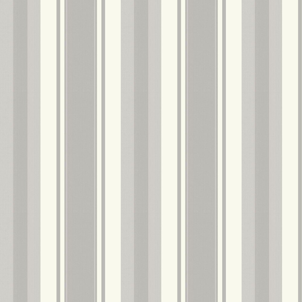 Palazzo Stripe  Wallpaper - Silver - by Arthouse