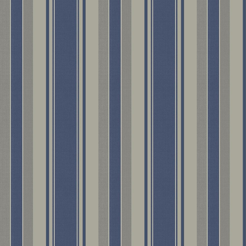 Palazzo Stripe Wallpaper - Navy - by Arthouse
