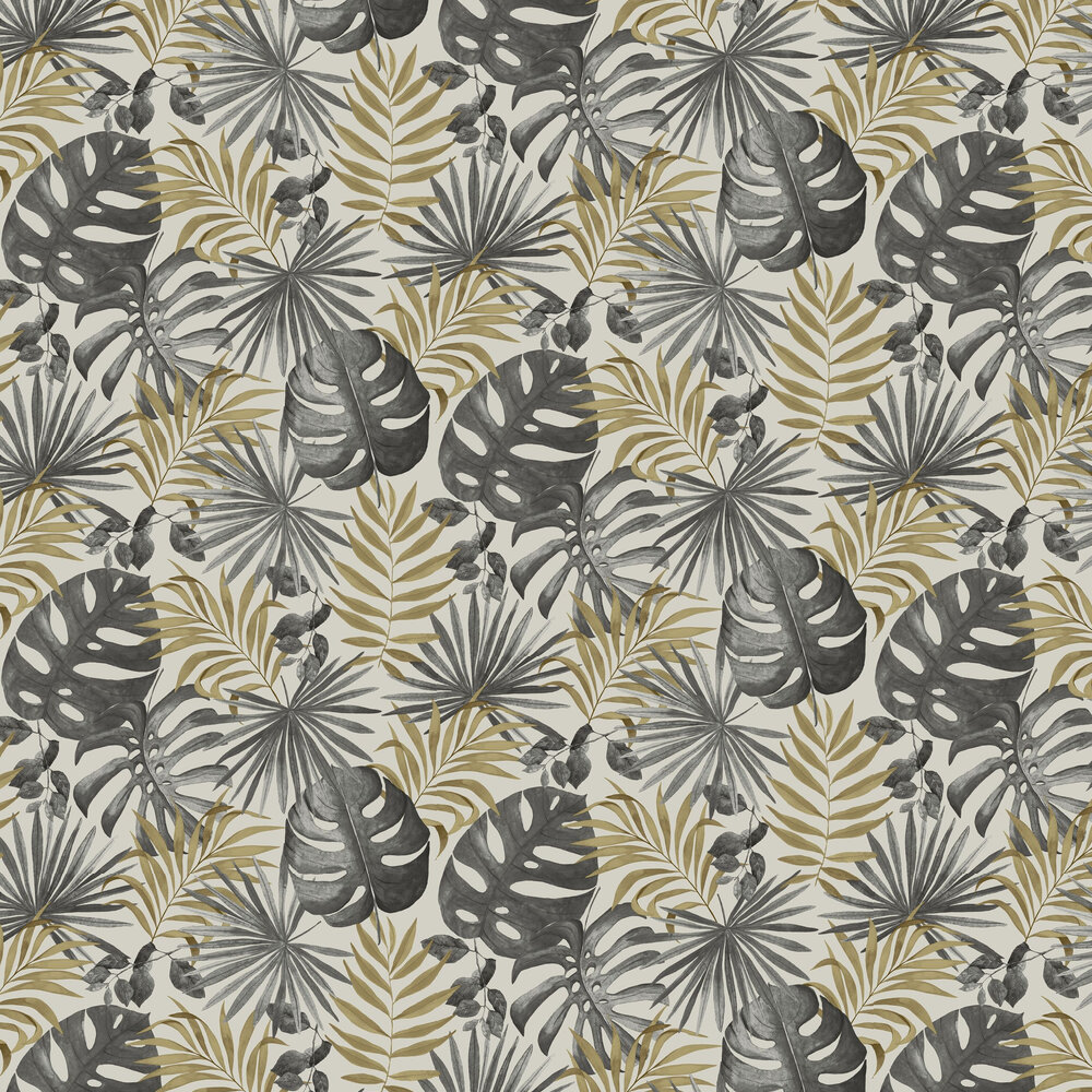 Jungle Wall Wallpaper - Black / Gold - by Arthouse